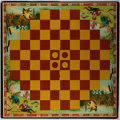 Books:Children's Books, [Games]. Game Board for The Game of Turn-Over. [ca. 1898].Approximately 17.25 x 17.25 inches. Board covered in clot...