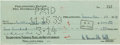 Football Collectibles:Others, 1939 Bill Hewitt and Bert Bell Signed Check....