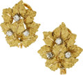 Estate Jewelry:Earrings, Diamond, Gold Earrings, Buccellati. ...