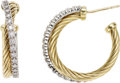 Estate Jewelry:Earrings, Diamond, Gold Earrings, David Yurman. ...