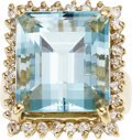 Estate Jewelry:Rings, Aquamarine, Diamond, Gold Ring. ...