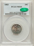 Seated Dimes, 1883 10C MS66 PCGS. CAC....