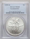 Modern Issues: , 1995-D $1 Olympic/Gymnastics Silver Dollar MS68 PCGS. PCGSPopulation (84/2083). NGC Census: (15/1358). Numismedia Wsl. Pr...