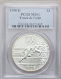Modern Issues: , 1995-D $1 Olympic/Track & Field Silver Dollar MS61 PCGS. PCGSPopulation (1/1017). NGC Census: (0/724). Numismedia Wsl. Pr...