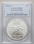 Modern Issues: , 1995-D $1 Olympic/Track & Field Silver Dollar MS68 PCGS. PCGSPopulation (38/974). NGC Census: (4/720). Numismedia Wsl. Pr...