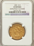 Liberty Eagles, 1859 $10 --Improperly Cleaned-- NGC Details NGC. XF. NGC Census:(16/131). PCGS Population (20/58). Mintage: 16,093. Numisme...
