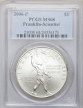 Modern Issues, 2006-P $1 Scientist MS68 PCGS. PCGS Population (30/2886). NGCCensus: (9/7489). Numismedia Wsl. Price for problem free NGC...