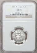 Modern Bullion Coins, 2007-W $25 Quarter-Ounce Platinum Eagle MS70 NGC. NGC Census: (0).PCGS Population (169). Numismedia Wsl. Price for proble...
