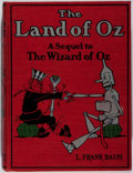 Books:Children's Books, L. Frank Baum. The Marvelous Land of Oz. Reilly &Britton, 1904. Early impression with color plates. Minor rubbingt...