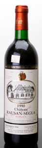 Red Bordeaux, Chateau Rauzan Segla 1990 . Margaux. lbsl. Bottle (1). ...(Total: 1 Btl. )