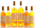 White Bordeaux, Chateau Rieussec. Sauternes. 1984 2bn, 2wasl, 1tl, 2sos Bottle (2). 1988 4lbsl, 1tl Half-Bottle (4). ... (Total: 2 Btls. & 4 Halves. )