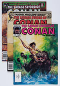 Magazines:Adventure, Savage Sword of Conan Group (Marvel, 1981-91) Condition: Average VF/NM.... (Total: 38 Comic Books)