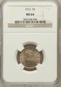 Liberty Nickels: , 1912 5C MS64 NGC. NGC Census: (375/138). PCGS Population (461/187).Mintage: 26,236,714. Numismedia Wsl. Price for problem ...