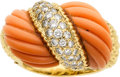 Estate Jewelry:Rings, Coral, Diamond, Gold Ring, Van Cleef & Arpels. ...