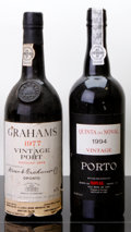Port/Madeira/Misc Dessert, Graham's Vintage Port . 1977 bsl, nl Bottle (1). Quinta do NovalVintage Port . 1994 Bottle (1). ... (Total: 2 Btls. )