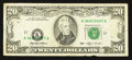 Error Notes:Shifted Third Printing, Fr. 2079-K $20 1993 Federal Reserve Note. Very Fine.. ...