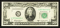 Error Notes:Obstruction Errors, Fr. 2063-G $20 1950D Federal Reserve Note. Extremely Fine.. ...