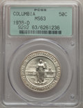 Commemorative Silver: , 1936-D 50C Columbia MS63 PCGS. PCGS Population (144/1835). NGCCensus: (18/1476). Mintage: 8,009. Numismedia Wsl. Price for...