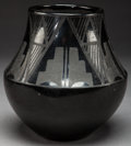 American Indian Art:Pottery, A SAN ILDEFONSO BLACKWARE JAR. Marie and Julian Martinez. c.1935...