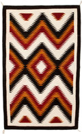 American Indian Art:Weavings, A NAVAJO REGIONAL RUG. Crystal. c. 1950...