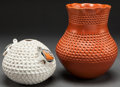 American Indian Art:Pottery, TWO HOPI POTTERY JARS. Stella Shutiva and Garnet Pavatea... (Total:2 Items)