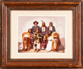American Indian Art:Photographs, CHROMOLITHOGRAPH OF UTE CHIEF SEVERA AND FAMILY BY WILLIAM HENRYJACKSON...