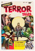 Golden Age (1938-1955):Horror, Beware Terror Tales #1 (Fawcett Publications, 1952) Condition:FN....