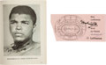 Boxing Collectibles:Memorabilia, 1966 Muhammad Ali vs. Karl Mildenberger Official Program & Ticket Stub, Each Signed by Ali....