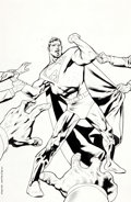 Original Comic Art:Covers, Kevin Nowlan Superman #615 Cover Original Art (DC, 2003)....