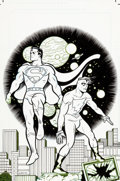 Original Comic Art:Covers, Michael Allred Superman Madman Hullabaloo #2 Cover Original Art (DC/Dark Horse, 1997)....