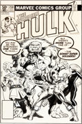 Original Comic Art:Covers, Frank Miller and Al Milgrom The Incredible Hulk #258 CoverOriginal Art (Marvel, 1981)....