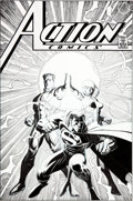 Original Comic Art:Covers, Arthur Adams Action Comics #819 Superman Cover Original Art(DC, 2004)....