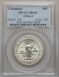 Commemorative Silver: , 1936-S 50C Columbia MS66 PCGS. PCGS Population (478/81). NGCCensus: (608/121). Mintage: 8,007. Numismedia Wsl. Price for p...