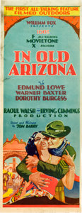 "Movie Posters:Western, In Old Arizona (Fox, 1929). Insert (14"" X 36"").. ..."