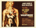 "Movie Posters:James Bond, Goldfinger (United Artists, 1964). Half Sheet (22"" X 28"").. ..."