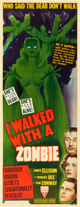 "Movie Posters:Horror, I Walked with a Zombie (RKO, 1943). Insert (14"" X 36"").. ..."