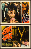 "Movie Posters:Horror, King Kong (RKO, R-1938). Title Lobby Card and Lobby Card (11"" X14"").. ... (Total: 2 Items)"