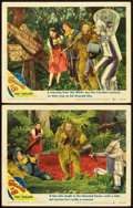 "Movie Posters:Fantasy, The Wizard of Oz (MGM, R-1949). Lobby Cards (2) (11"" X 14"").. ...(Total: 2 Items)"