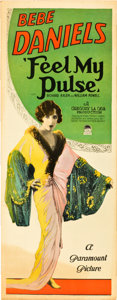 """Movie Posters:Comedy, Feel My Pulse (Paramount, 1928). Insert (14"""" X 36"""").. ..."""