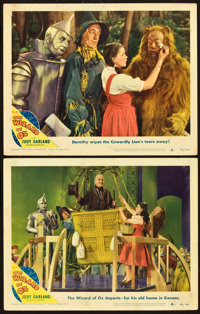 "The Wizard of Oz (MGM, R-1949). Lobby Cards (2) (11"" X 14""). ... (Total: 2 Items)"