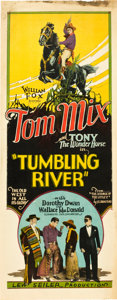 "Movie Posters:Western, Tumbling River (Fox, 1927). Insert (14"" X 36"").. ..."