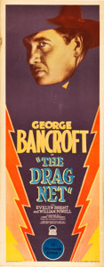 """Movie Posters:Crime, The Drag Net (Paramount, 1928). Insert (14"""" X 36"""").. ..."""
