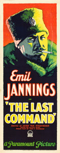 """Movie Posters:Drama, The Last Command (Paramount, 1928). Insert (14"""" X 36"""").. ..."""