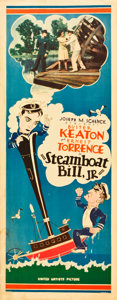 "Movie Posters:Comedy, Steamboat Bill, Jr. (United Artists, 1928). Insert (14"" X 36"")....."