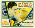 """Movie Posters:Drama, Condemned (United Artists, 1929). Half Sheet (22"""" X 28"""").. ..."""
