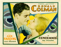 "Condemned (United Artists, 1929). Half Sheet (22"" X 28"")"