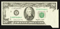 Error Notes:Foldovers, Fr. 2075-E $20 1985 Federal Reserve Note. Extremely Fine.. ...