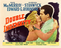 """Double Indemnity (Paramount, 1944). Half Sheet (22"""" X 28"""") Style A"""