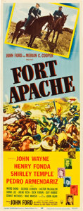 "Movie Posters:Western, Fort Apache (RKO, 1948). Insert (14"" X 36"").. ..."