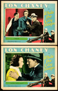 "Movie Posters:Crime, While the City Sleeps (MGM, 1928). Lobby Cards (2) (11"" X 14"").From the Leonard and Alice Maltin Collection.. ... (Total: 2Items)"
